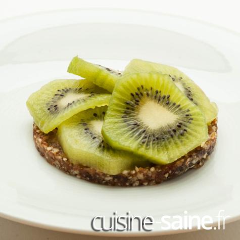 tarte crue kiwi
