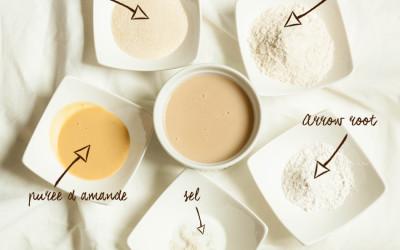 Crème pâtissière vegan (sans œuf, sans lait) et sans gluten