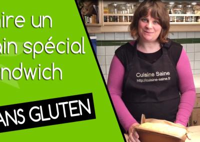 Recette de pain sans gluten spécial sandwich en vidéo