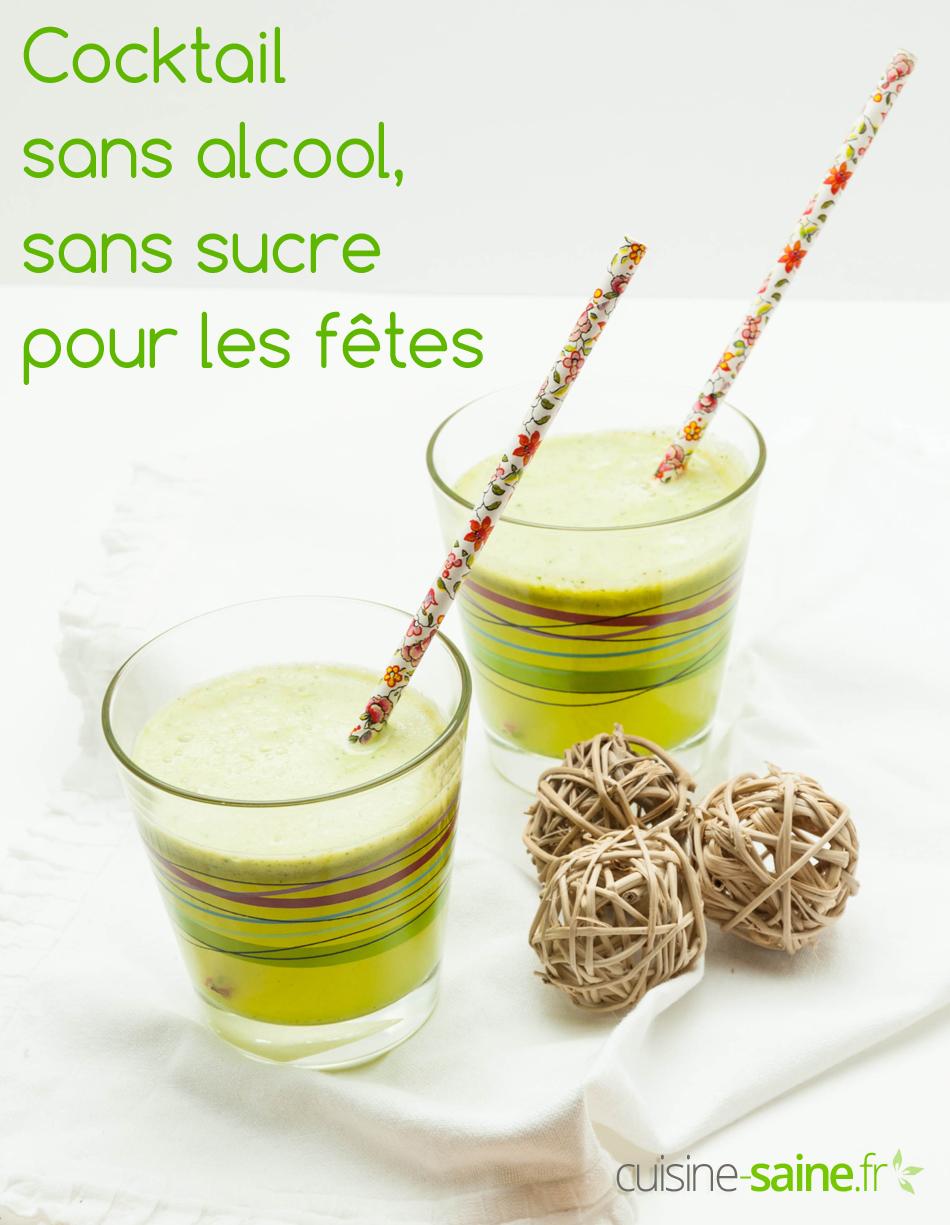 Cocktail sans alcool, sans sucre à l'extracteur de jus Kuvings