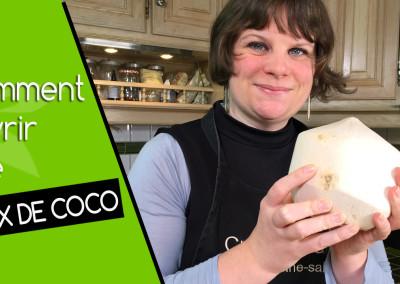 Vidéo comment ouvrir une noix de coco fraiche