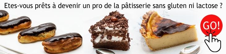 formation en ligne, la pâtisserie sans gluten ni lactose