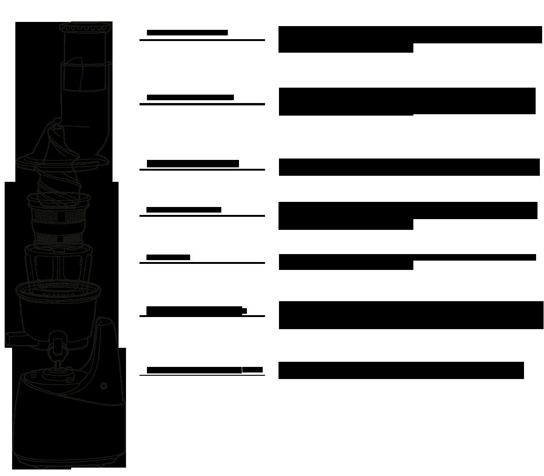 Le kuvings extracteur de jus en détails