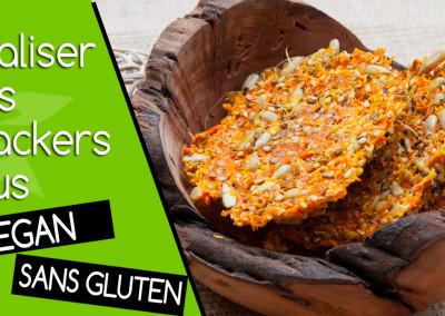 Vidéo des crackers crus maison vegan et sans gluten