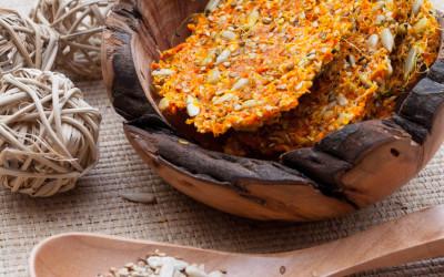 Crackers de légumes crus, utiliser la pulpe de l'extracteur