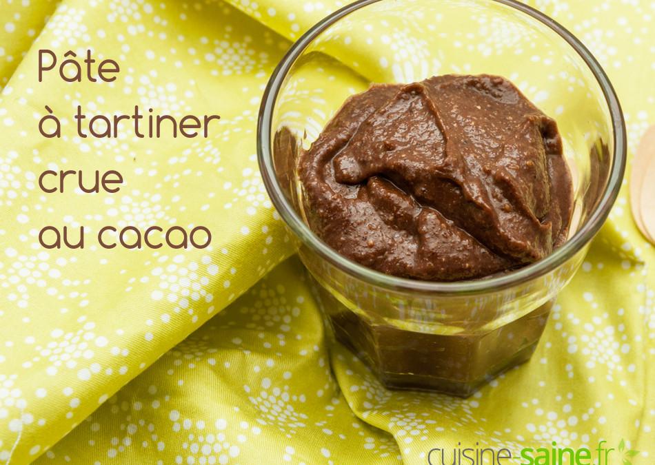 Pâte à tartiner crue (au cacao cru)