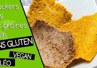 Vidéo crackers crus vegan et sans gluten aux graines de lin
