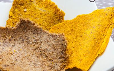 Crackers crus vegan sans gluten aux graines de lin