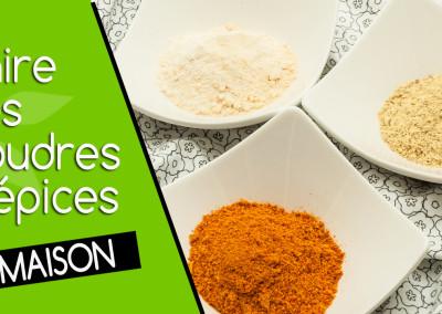 Faites vos poudres d'épices maison de qualité crue