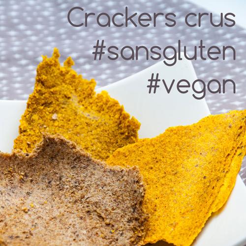 crackers crus vegan et sans gluten