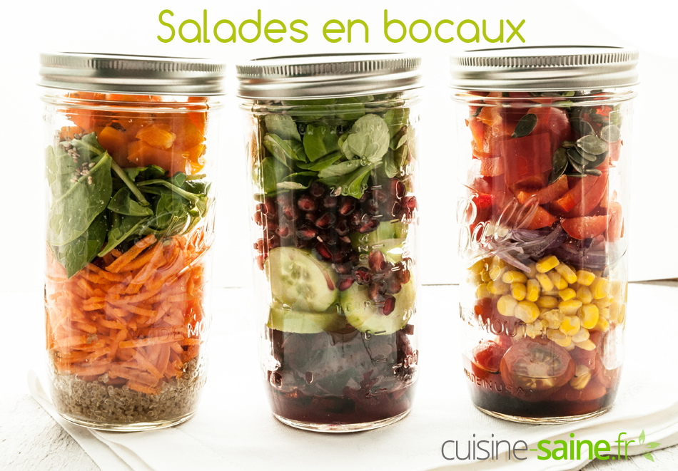 Salade en bocal ou salad jar