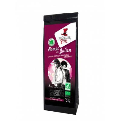 Roméo et Julien - Thé vert grenade framboise gingembre bio - vrac 25 g