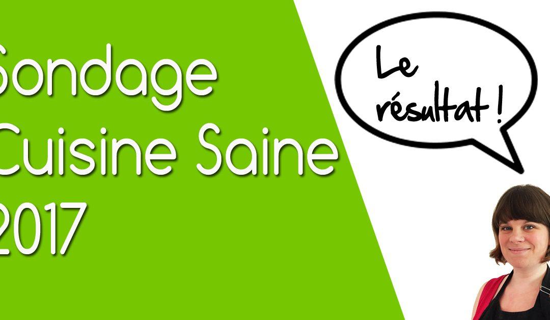 Résultat du sondage : le blog Cuisine Saine en 2017