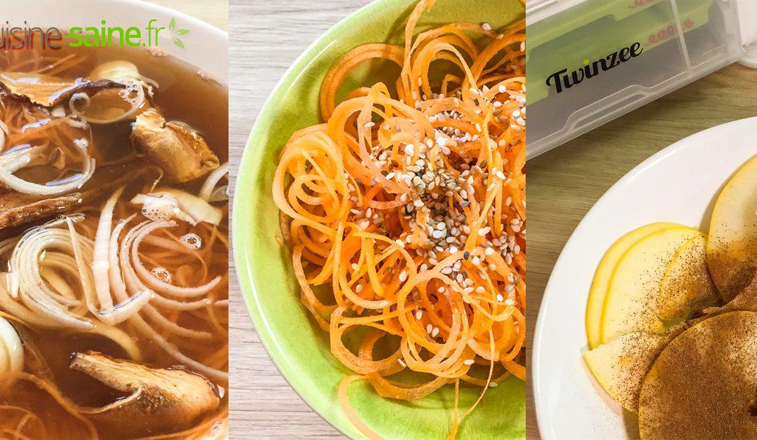 Menu détox : 3 recettes vegan sans gluten au spiralizer