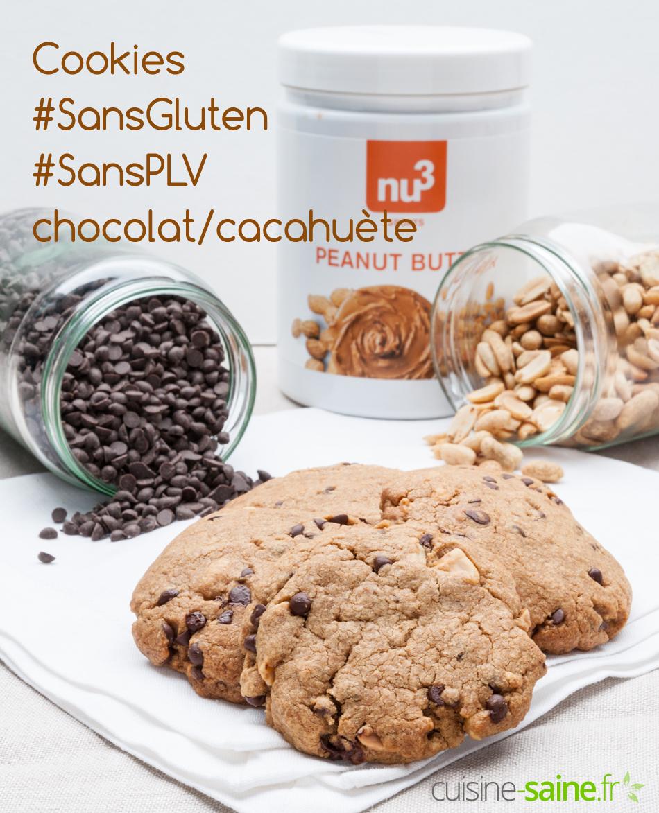 Cookies sans gluten sans PLV chocolat/cacahuète