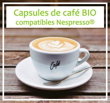 Café : capsules de café bio compatibles Nespresso®