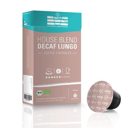 Café sfcc house blend decaf lungo