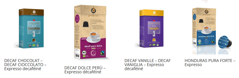 capsules café gourmesso