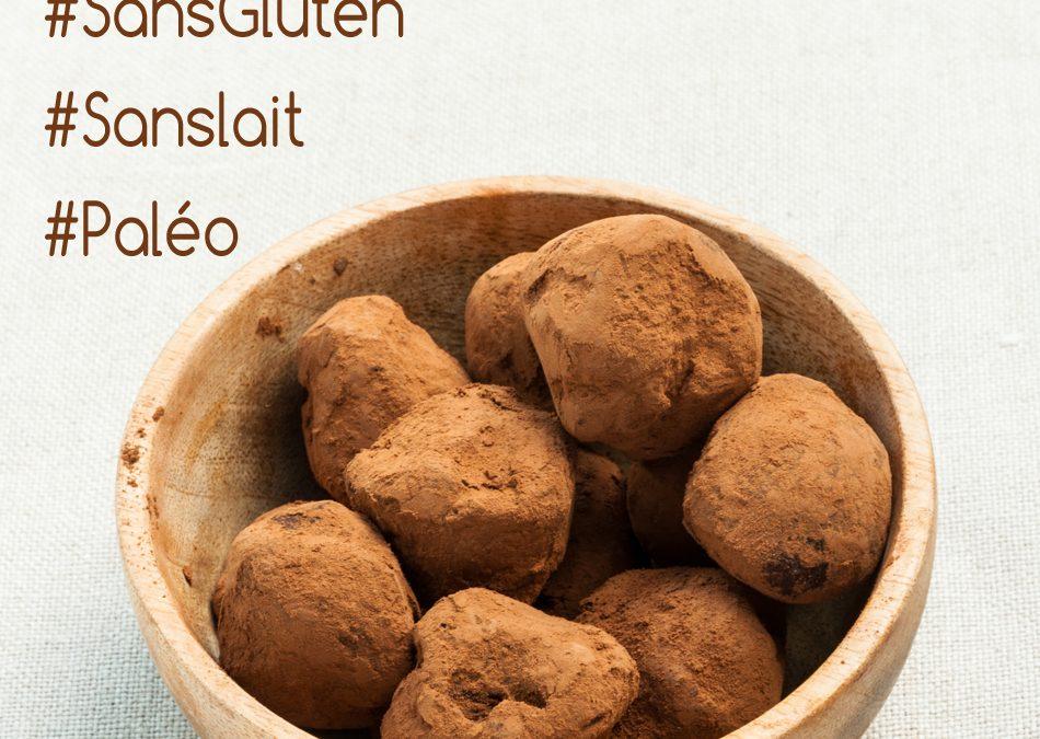 Truffes au chocolat et lait de coco sans gluten, sans lait (paléo et vegan)