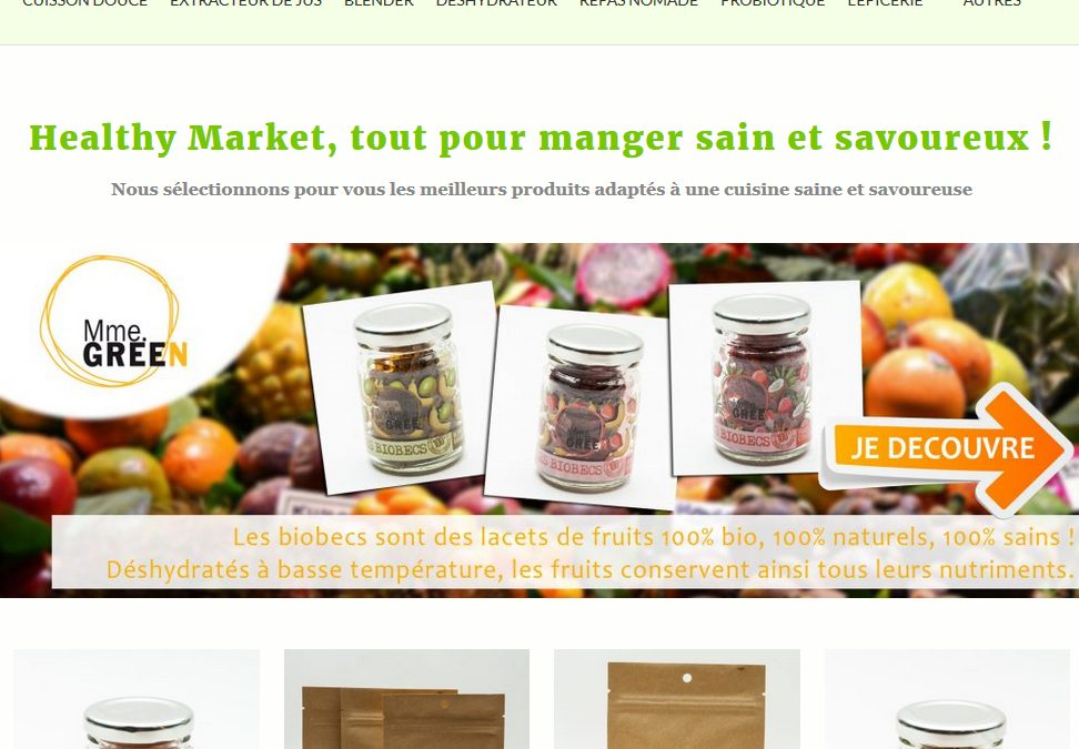 Nouvelle version de la Marketplace bio – Healthy Market