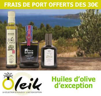 Sélection d'huiles d'olive d'exception par Oleik