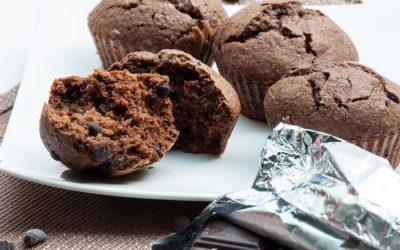 Muffins double chocolat sans gluten ni lactose