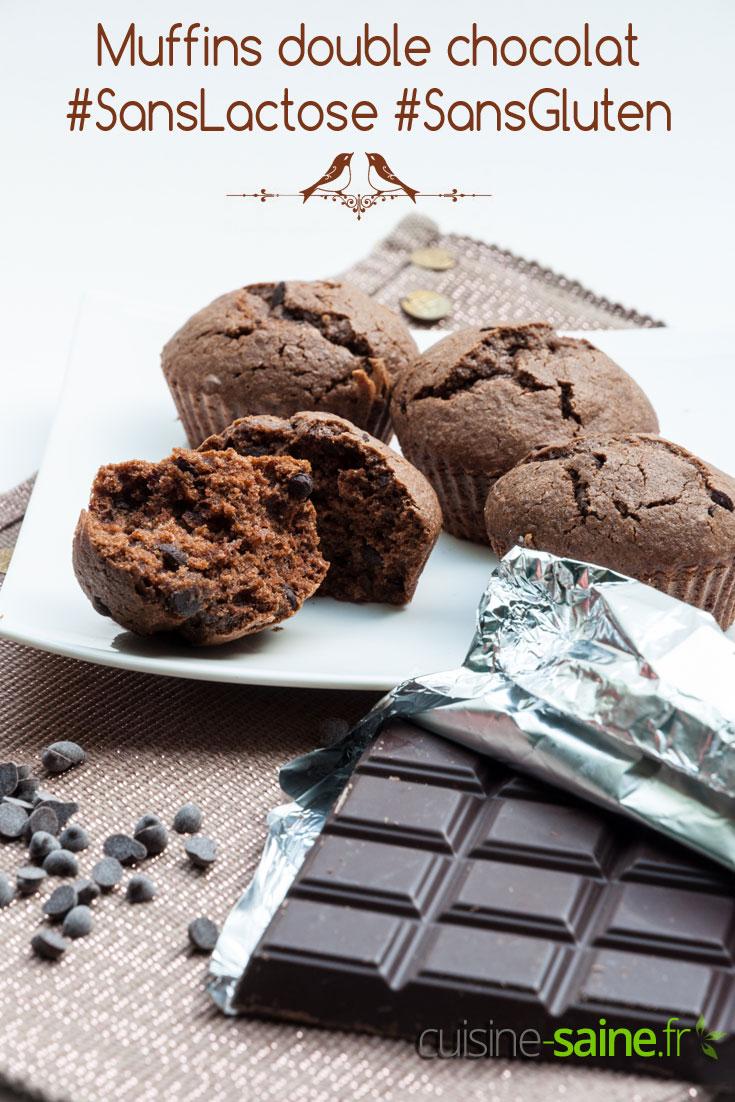 Muffins chocolat sans gluten ni lactose