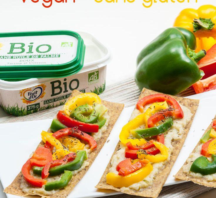 Tarte aux poivrons vegan sans gluten