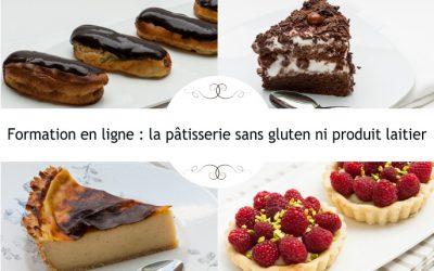 Formation cuisine en ligne pâtisserie sans gluten ni lait