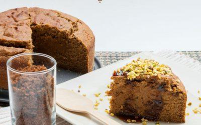 Gâteau au muscovado et cannelle sans gluten, sans lait, sans œuf (vegan)