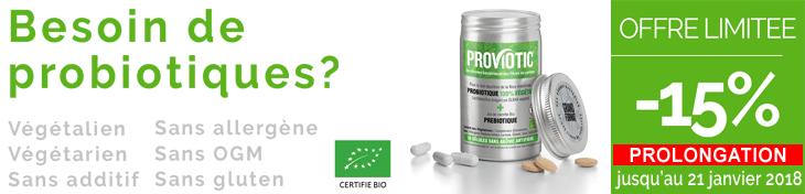 Besoin de probiotiques? -15% sur la gamme Proviotic du 10 au 17 janvier 2018