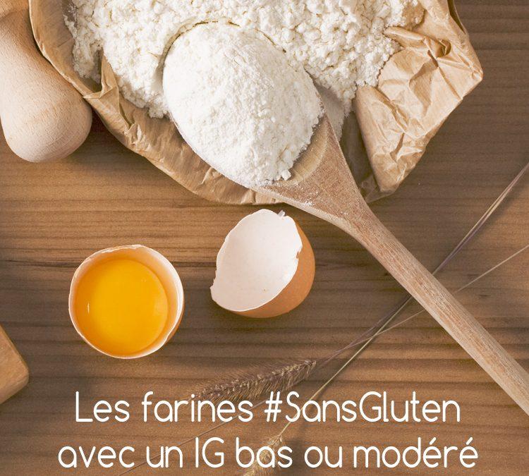Farines sans gluten avec index glycémique IG bas ou modéré