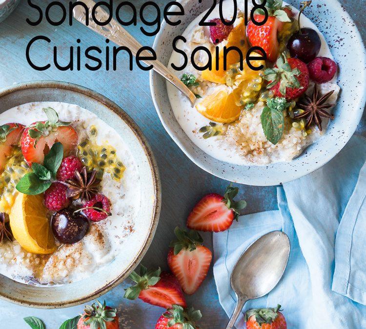 Sondage Cuisine Saine 2018