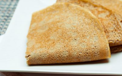 Crêpes sans gluten sans lactose et IG bas
