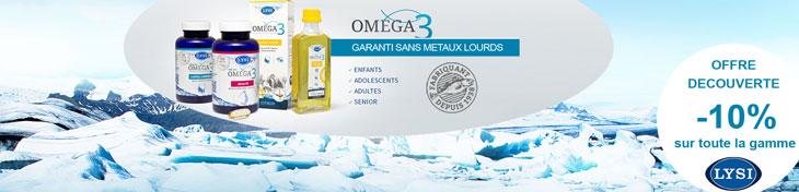 Offre découverte : -10% sur la gamme Lysi Oméga3