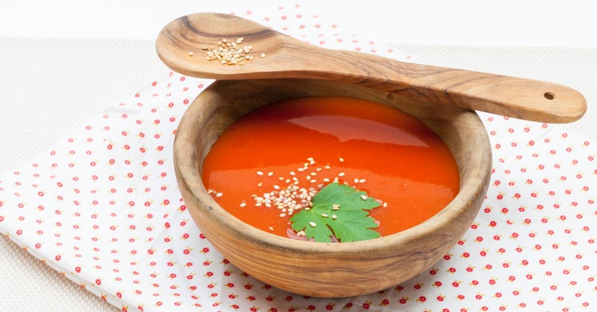 recette de soupe la tomate facile et rapide blog cuisine saine. Black Bedroom Furniture Sets. Home Design Ideas