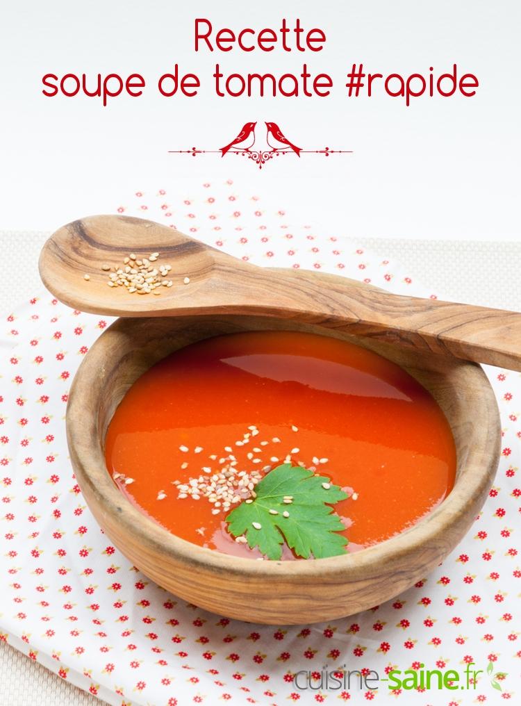 Recette de soupe à la tomate facile et rapide