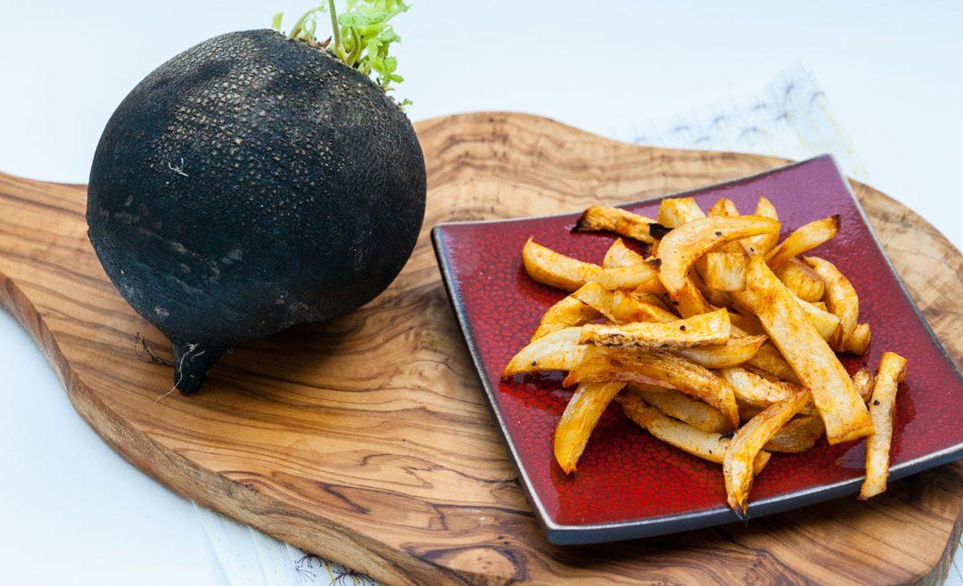 Recette de radis noir : frites de radis noir au four