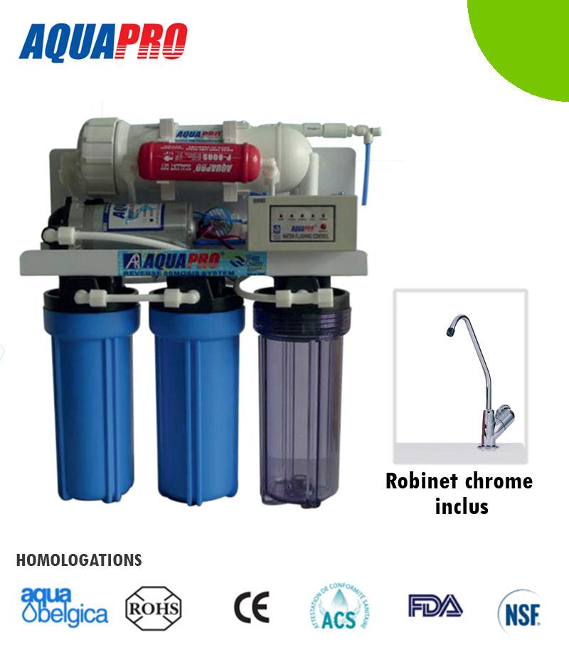 Osmoseur auto-nettoyant à débit direct 400 GPD (1514 litres/jour)
