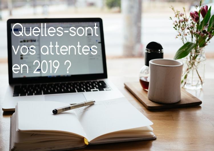 Quelles sont vos attentes en 2019 ?