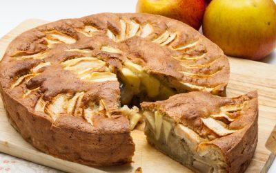 Gâteau aux pommes sans gluten ni lactose