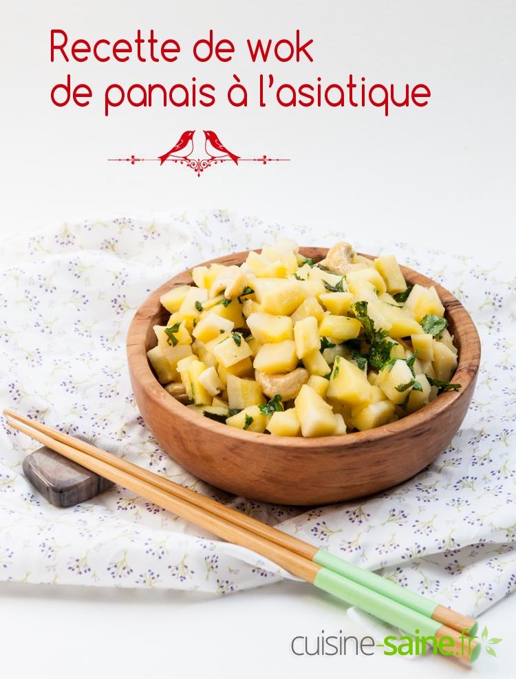 Recette de wok de panais à l'asiatique