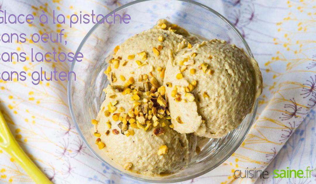 Glace à la pistache vegan, sans œuf, sans lactose