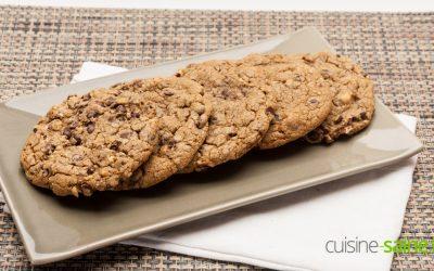 Recette de cookies chocolat noisettes sans gluten ni lactose