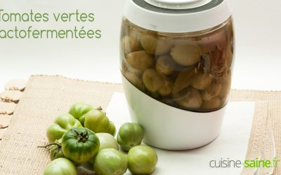 Recette tomates vertes lactofermentées (pickles façon cornichon)