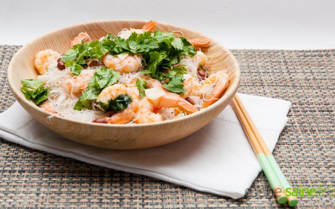 Wok de crevettes à la coriandre sans gluten ni lactose