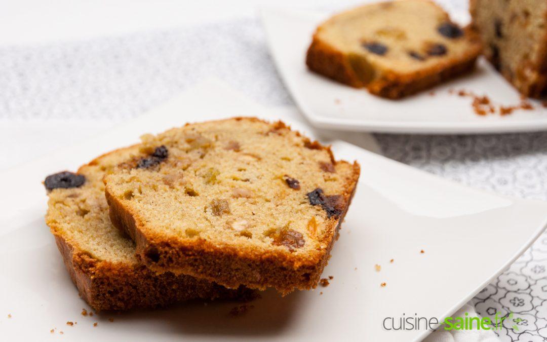 Cake aux fruits confits sans gluten ni lactose