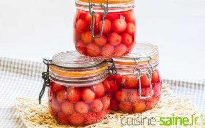 Recette bocaux : cerises au sirop, conserve de cerises