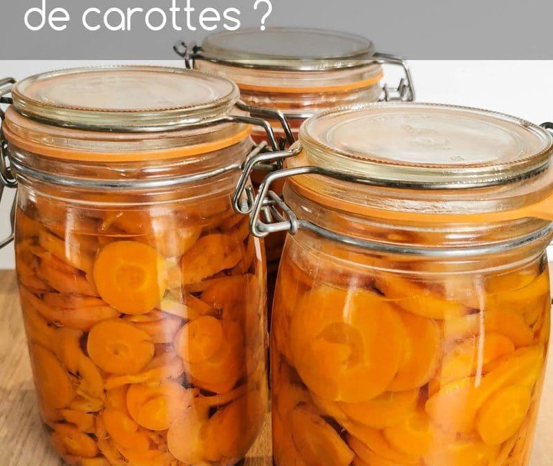 Comment faire des conserves de carottes ou bocaux de carottes ?