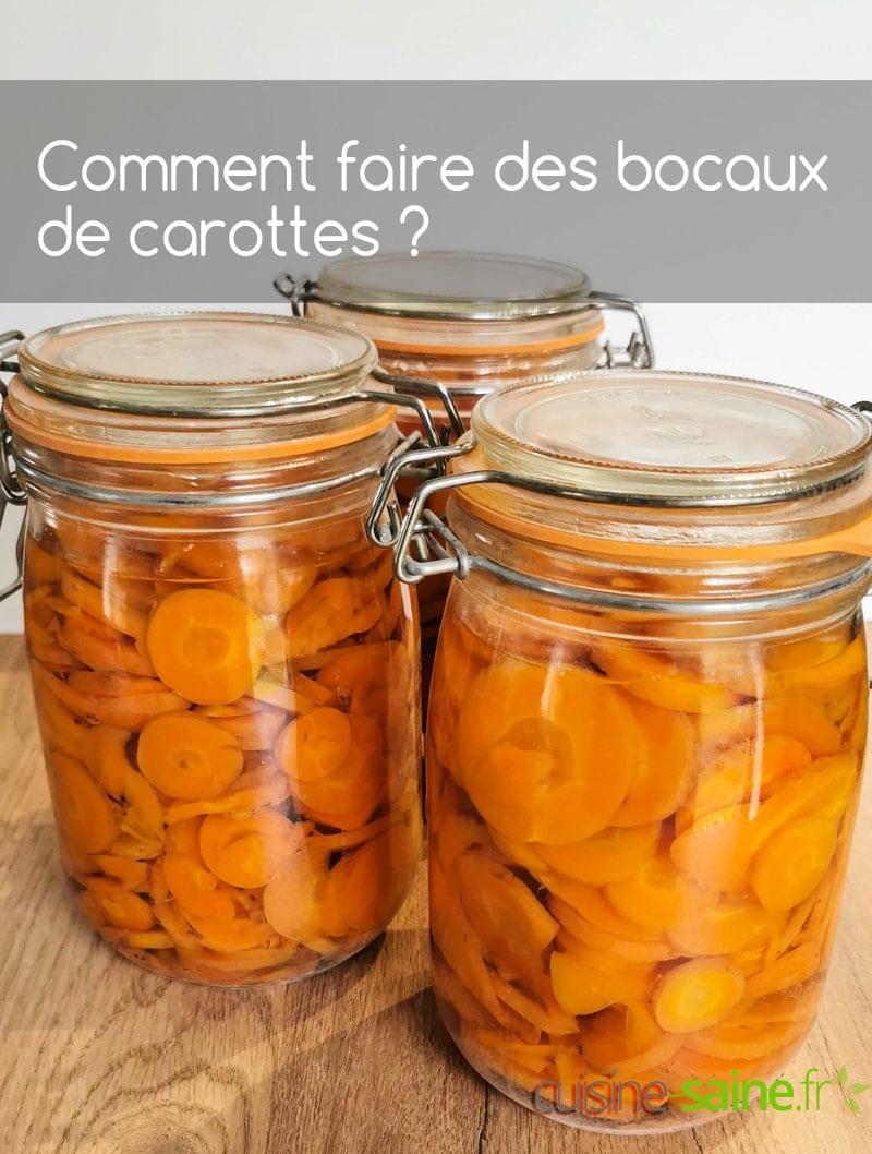 Recette de conserves de carottes en rondelles au naturel